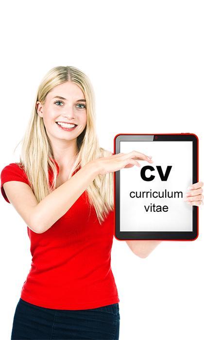 Práctica de entrevistas chica con CV