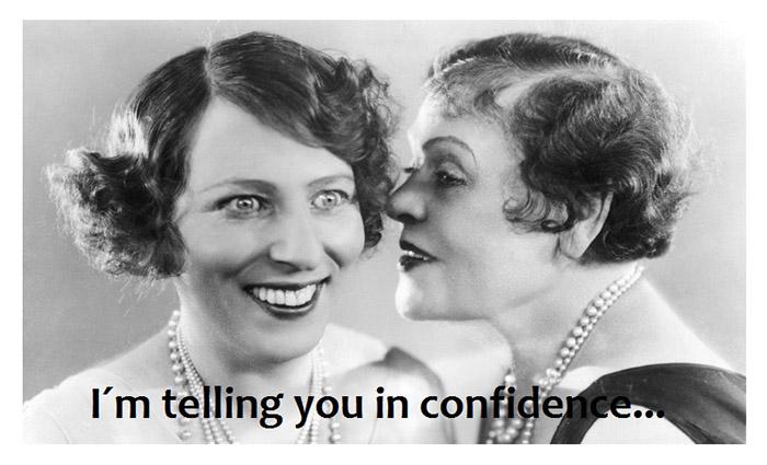 Gossip in confidence